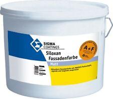 SIGMA Siloxan Fassadenfarbe A & F weiß matt 12.5L Schutz vor Algen u.Pilze