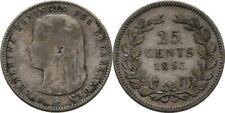 25 Cents 1895 Niederlande Wilhelmina, 1890-1948 #N1054