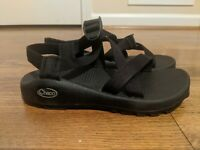 Chaco Black Strappy Adjustable Sports Waterproof Vibram Sandals Womens Size 6