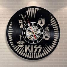 KISS Rock Band Wall Clock Modern Design Music Vinyl Clocks Wall Watch Home Decor