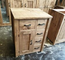 NEW SOLID WOOD RUSTIC CHUNKY PLANK WOODEN FREE-STANDING KITCHEN UNITS, CUPBOARD