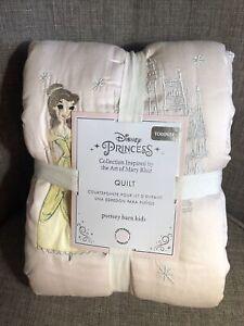 New~Pottery Barn Disney Princess Toddler Comforter Quilt~Blush Pink