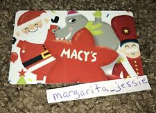 MACY'S GIFT CARD SANTA HIPPO NUTCRACKER STAR NO VALUE COLLECTIBLE NEW