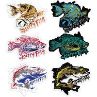 Fishing Decal Sticker 6-pack Kenders Outdoors UV Resistant Waterproof Stickers