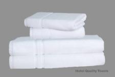 Hotel Quality 2x Hand and 2x Bath Towels Bale Set 100% Organic Cotton 600 GSM