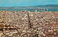 Aerial View San Francisco California CA Bay Bridge Panorama Postcard