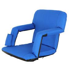 Bleacher Seat Blue Stadium Chair Extra Wide Stadium Chair Folding W/ Cup Pocket