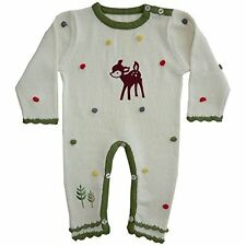 powell craft woodland creatures knitted jumpsuit 0-6 months