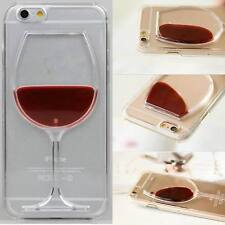 Red Wine Glass Moving Dynamic Liquid 3D Phone Case Cover For iPhone and Samsung