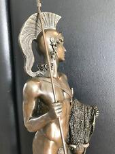 XL bronze personnage antique style Jason et la toison d'or signée 6,1 kg vente aux enchères