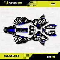 Black Blue Rise Racing Graphic Kit fits Suzuki Drz400 Drz 400 Drz400sm 400sm