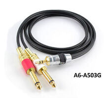 "3ft 3.5mm Stereo Male to Dual 1/4"" Mono Male Gold Plated Plug Cable - A6-A503G"