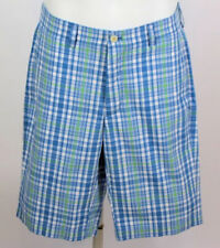 "Vineyard Vines Mens Shorts Size 28 Classic Fit 11"" Club Shorts Green Blue Plaid"