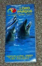 LORO PARQUE Fold Out Guide 1999 Puerto De La cruz Tenerife Zoo Parrots Dolphins