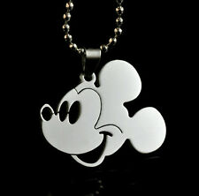 MICKEY MOUSE Disney Pendant Chain Steel Necklace Fashion Boy Girl Lady LZ16
