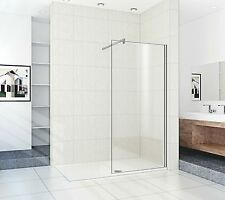 Walk In Shower Enclosure 1600mm x700mm Tray+900mm x 8mm Glass Panel