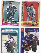 1965-66 Parkhurst # 93  Ed Giacomin Signed Autographed Card NY Rangers
