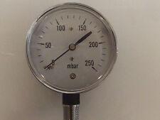 0-250 Milibar Capsule Gauge, 0.2.5psi Precision Pressure Gauge,250MBar fine 63mm