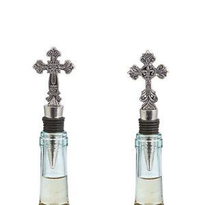 Mud Pie E1 Classic Home Bar Cross Wine Bottle Stopper Topper 48600038 Choose
