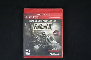 Fallout 3 Game of the Year Edition (Sony PlayStation 3, 2009) *New Torn Plastic*