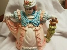 Vintage Southern Bell Victorian/British Lady Teapot Pitcher spout with umbrella