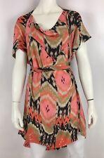 AllSaints Audrina Belted Dress Ikat Print Silk Sz US 6 M (UK 10)