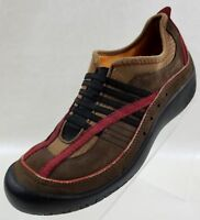 Privo By Clarks Loafers Brown Red Leather Slip On Women's Shoes Size 7.5M