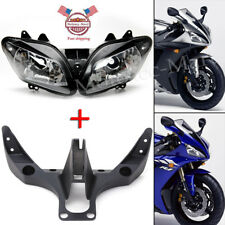 YZF R1 Front Headlight Lamp Assembly+ Fairing Stay Bracket Fit Yamaha 2002-2003