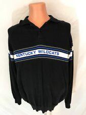 Vtg 1990s Mens Kentucky Wildcats K Sport Dawahares Black Blue Rugby Shirt Sz XL