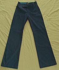 WESTCO shimmering PANTS stretch Retro Pants  Blue  28W  NEW! ~ Women sz 6 to 8