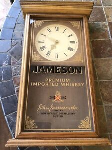 Jameson Whiskey Wooden Wall Clock