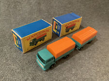 Matchbox Lesney England Mercedes Truck #1 & Mercedes Trailer #2 Original Boxes
