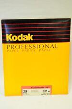 Kodak Kodabrome II RC E2 25 sheets 8x10 Lustre black & white paper. NOS