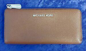 Michael Kors MK Women's Brown Clutch Purse Wallet