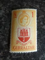 GIBRALTAR POSTAGE STAMP SG158 £1 UN MOUNTED MINT