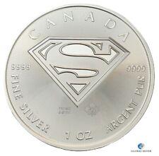 2016 Superman Canada silver 1 oz ounce bullion coin brand new 5 dollars $ unc.