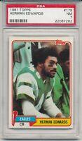 1981 Topps Herman Edwards #179  PSA 7  Graded  Philadelphia Eagles