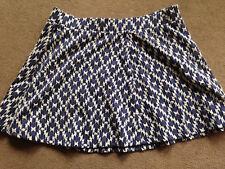BNWT NEXT Ladies Blue White Textured A Line Skirt Elasticated Waist Size 18