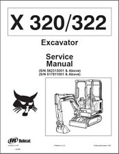 Bobcat X320 / X322 Compact Excavator Service Manual on a CD     ---  X 320 322