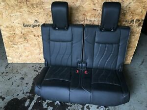 INFINITI JX35 QX60 OEM 13-19 SET REAR BACK 3RD THIRD ROW CHILD SEAT LEATHER SEAT