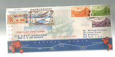 1937 Shanghai China FFC CNAC First Flight Cover to Hong Kong W Map Route