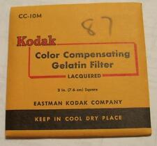 Kodak Color COMPENSADOR GELATINA Filtro N º cc10m 7.6cm OR 7.6cm Cuadrado