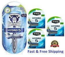 16 Schick Hydro 5 Razor & Blades 15 Hydro5 Refill Cartridges Wilkinson Handle