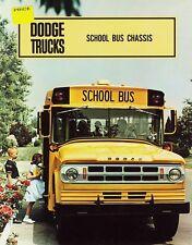 1968 Dodge School Bus Chassis S500 S550 S600 Sales Brochure