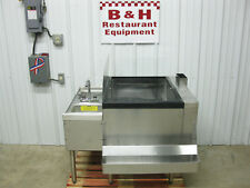 "40"" x 32"" Stainless Steel Bar Island Ice Well Bin 8 Circuit Cold Plate Hand Sink"