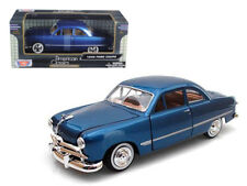 1949 Ford Coupe Die-cast Car 1:24 Motormax 8 inch Blue