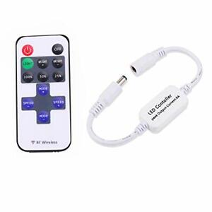 Updated Mini Remote Controller for Single Color LED Strip Lights RF Dimmer for
