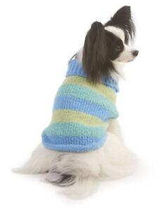 LOOKIN GOOD PET FASHION STRIPED BLUE STRIPED SWEATER SIZE XS S & L NWT