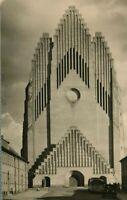 Vintage (c.1930s) Art Deco Architecture Grundtvig's Church Photo Danish Postcard