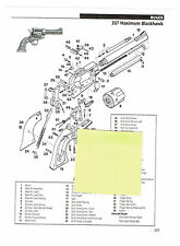 RUGER 357 MAX. BLACKHAWK, 22 BEARCAT REVOLVER  EXPLODED VIEW/PARTS LIST 2011 AD
